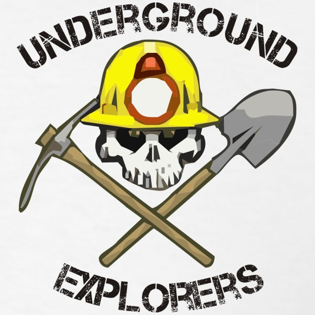 Underground Explorers White Logo Tee