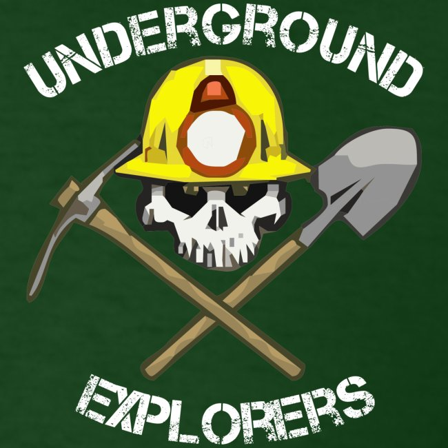 Underground Explorers Green Logo Tee