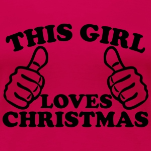 This Girl Loves Christmas Women's T-Shirts - Women's Premium T-Shirt
