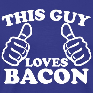 This Guy Loves Bacon T-Shirts - Men's Premium T-Shirt