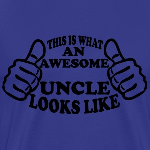 This Is What An Awesome Uncle Looks Like T-Shirts - Men's Premium T-Shirt