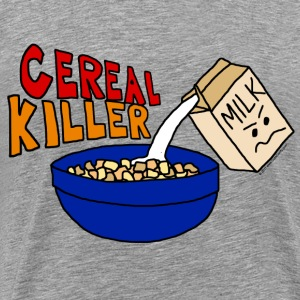 Cereal Killer Parody, Cute funny Food T-Shirts - Men's Premium T-Shirt