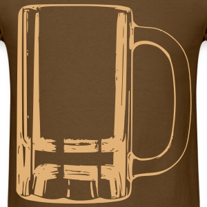 Clear Beer Mug, Drinking Alcohol Beverage T-Shirts - Men's T-Shirt