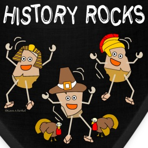 Three History Rocks White Caps - Bandana