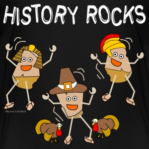 Three History Rocks White Kids' Shirts - Kids' Premium T-Shirt