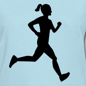 Girl Runner Women's T-Shirts - Women's T-Shirt