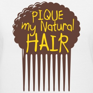 Pique My Natural Hair - Women's V-Neck T-Shirt