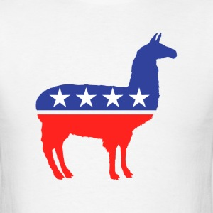 Political Party Llama Mascot T-Shirts - Men's T-Shirt