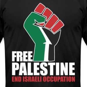 Free Palestine End Israeli Occupation T-Shirts - Men's T-Shirt by American Apparel
