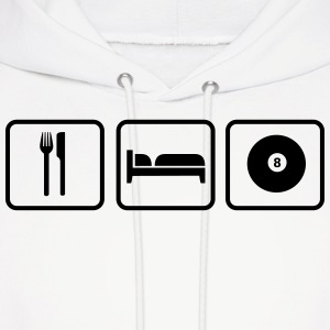Eat Sleep Billard Hoodies - Men's Hoodie
