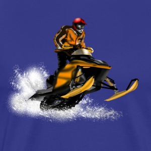 snowmobile racing T-Shirts - Men's Premium T-Shirt