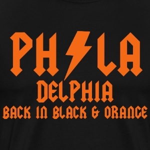 Philly Back in Black & Orange T-Shirts - Men's Premium T-Shirt