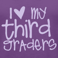 Design ~ Love My Third Graders | Light Purple | Women's Tank Top