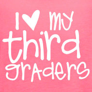 Design ~ Love My Third Graders | Chalk | Women's Flowy Tank Top
