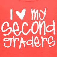 Design ~ Love My Second Graders | Chalk | Women's Flowy Tank Top