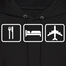 Eat Sleep Fly Hoodies
