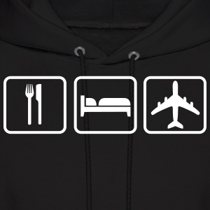 Eat Sleep Fly Hoodies - Men's Hoodie