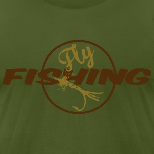 fly fishing2 T-Shirts - Men's T-Shirt by American Apparel