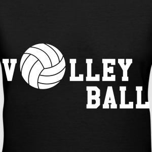 Volleyball Women's T-Shirts - Women's V-Neck T-Shirt