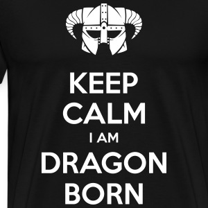 Keep Calm I am Dragonborn T-Shirts - Men's Premium T-Shirt