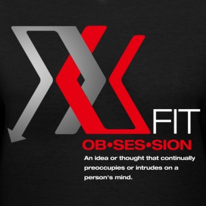 obsessed XFIT - Women's V-Neck T-Shirt