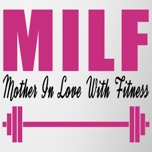 Milf Mom In Love With Fitness Bottles & Mugs - Contrast Coffee Mug