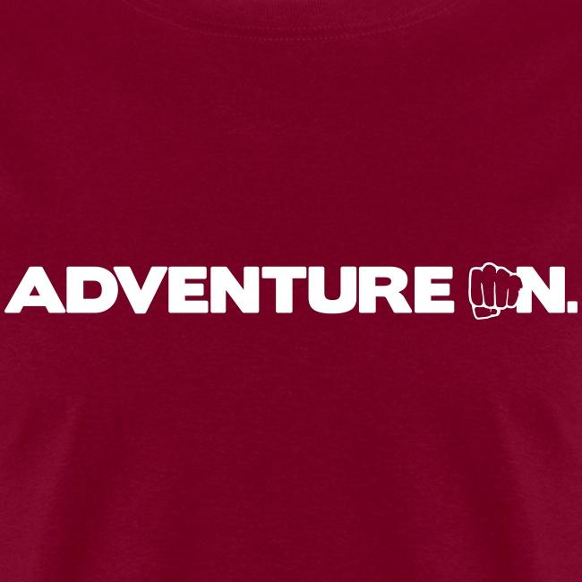 """Adventure On"" T - White Logo"
