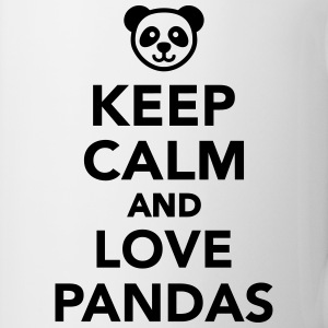 Keep calm and love Pandas Bottles & Mugs - Coffee/Tea Mug