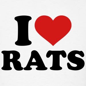 I love Rats T-Shirts - Men's T-Shirt