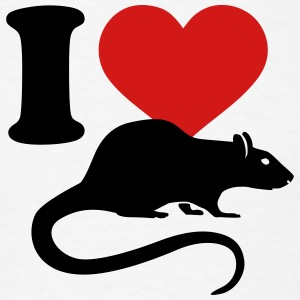 I love Rat T-Shirts - Men's T-Shirt