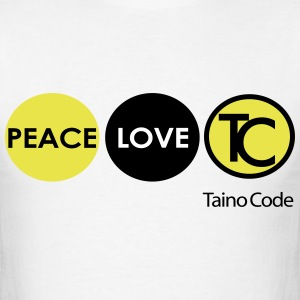 Peace, Love, Taino Code - Men's T-Shirt