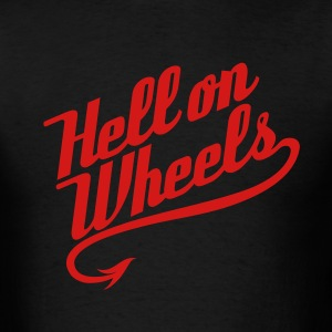 Hell on Wheels 1c T-Shirts - Men's T-Shirt