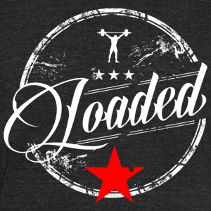 LOADED script tee - Unisex Tri-Blend T-Shirt by American Apparel