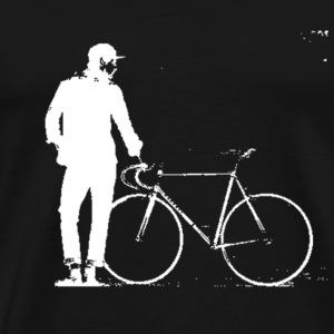 Figure With Bicycle T-Shirts - Men's Premium T-Shirt
