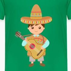 boy mexican guitar Baby & Toddler Shirts