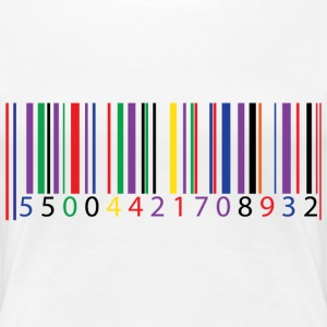 color bar code - Women's Premium T-Shirt