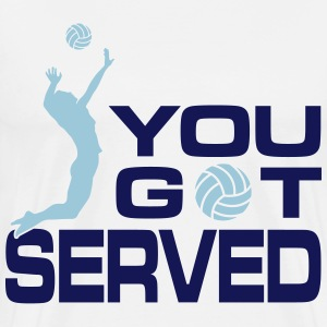 volleyball: you got served T-Shirts - Men's Premium T-Shirt