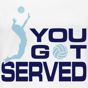volleyball: you got served Women's T-Shirts - Women's Premium T-Shirt