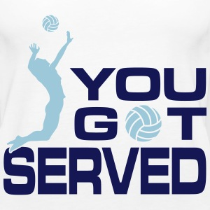 volleyball: you got served Tanks - Women's Premium Tank Top