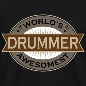 Awesome Drummer Music T-Shirts - Men's Premium T-Shirt