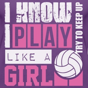 play_volleyball_like_a_girl Tanks - Women's Premium Tank Top