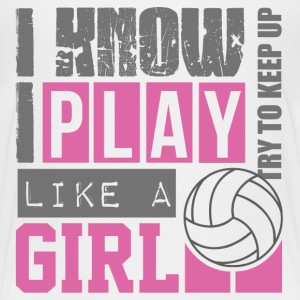 play_volleyball_like_a_girl Kids' Shirts - Kids' Premium T-Shirt