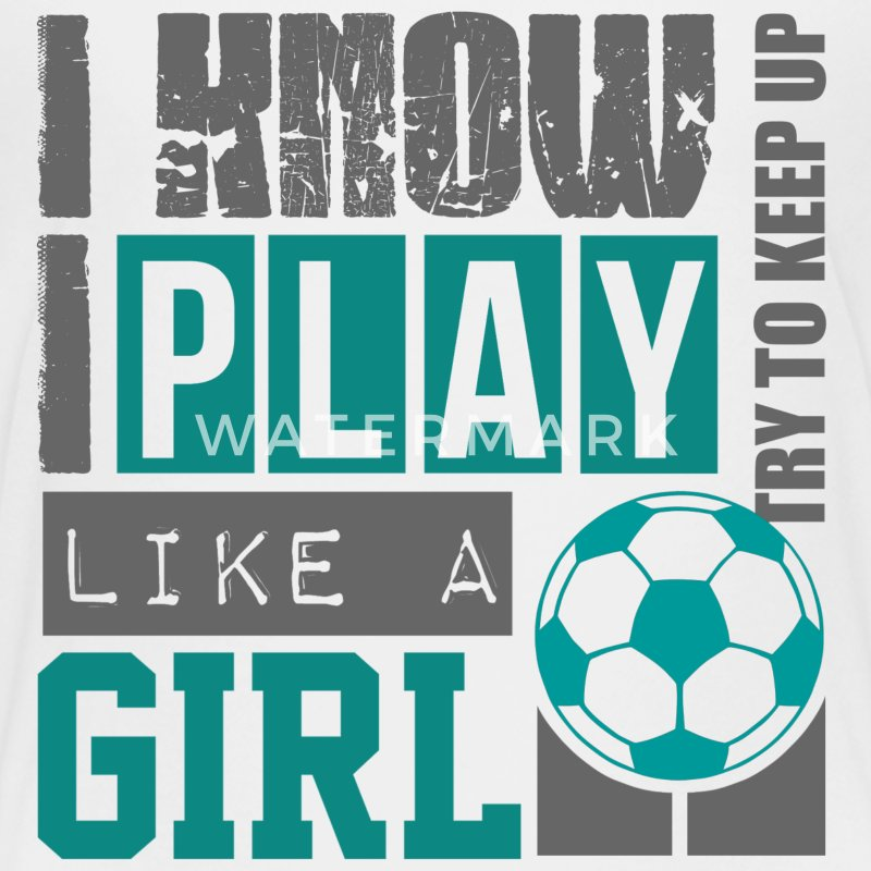 play_soccer_like_a_girl Kids' Shirts - Kids' Premium T-Shirt