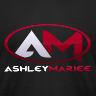 Design ~ AshleyMarieeGaming Logo - Black T-Shirt American Apparel (Male)