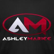 Design ~ AshleyMarieeGaming Logo - Black T-Shirt American Apparel (Male)