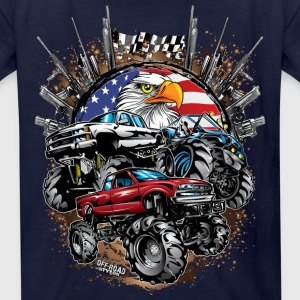 Mega Mud Trucks USA Kids' Shirts - Kids' T-Shirt