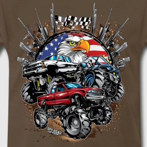 Mega Mud Trucks USA T-Shirts - Men's Premium T-Shirt