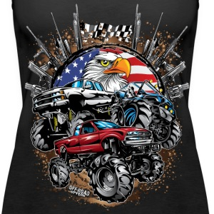 Mega Mud Trucks USA Tanks - Women's Premium Tank Top
