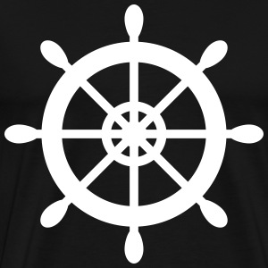 Ship Wheel Print - Men's Premium T-Shirt