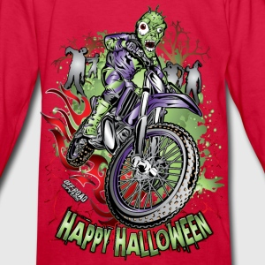 MX Dirt Bike Halloween Kids' Shirts - Kids' Long Sleeve T-Shirt